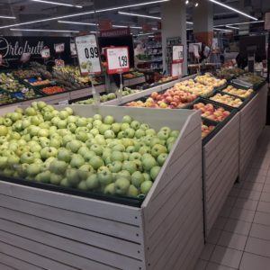 Gondola per frutta e verdura